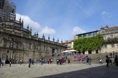 Plaza de Λα Quintana, Σαντιάγο de Compostela Στοκ Εικόνα