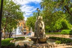 Plaza de Λα Reina Πάλμα ντε Μαγιόρκα Στοκ εικόνες με δικαίωμα ελεύθερης χρήσης