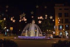 Plaza de Λα Reina πηγή Στοκ φωτογραφία με δικαίωμα ελεύθερης χρήσης