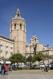 Plaza de Λα Reina στην παλαιά πόλη της Βαλένθια, Ισπανία Στοκ εικόνα με δικαίωμα ελεύθερης χρήσης