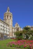 Plaza de Λα Reina στην παλαιά πόλη της Βαλένθια, Ισπανία Στοκ Εικόνες