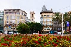 Plaza de Λα Reina στη Βαλένθια, Ισπανία Στοκ Εικόνες