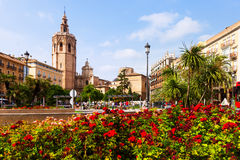Plaza de Λα Reina στη Βαλένθια, Ισπανία Στοκ εικόνα με δικαίωμα ελεύθερης χρήσης