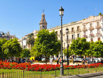Plaza de Λα Reina στη Βαλένθια, Ισπανία Στοκ Εικόνα