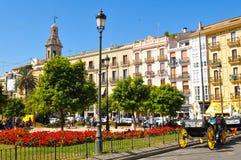 Plaza de Λα Reina στη Βαλένθια, Ισπανία Στοκ φωτογραφία με δικαίωμα ελεύθερης χρήσης