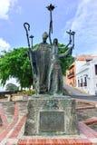 Plaza de Λα Rogativa, το παλαιό San Juan, Πουέρτο Ρίκο Στοκ Φωτογραφίες