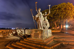 Plaza de Λα Rogativa, το παλαιό San Juan, Πουέρτο Ρίκο Στοκ εικόνες με δικαίωμα ελεύθερης χρήσης