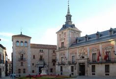 Plaza de Λα Villa - Μαδρίτη Στοκ Φωτογραφίες