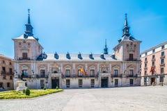 Plaza de Λα Villa, Μαδρίτη, Ισπανία, España Στοκ Εικόνα