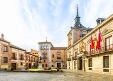 Plaza de Λα Villa στην παλαιά πόλη της Μαδρίτης Ισπανία Στοκ εικόνα με δικαίωμα ελεύθερης χρήσης