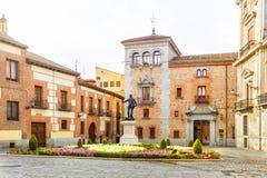 Plaza de Λα Villa στην παλαιά πόλη της Μαδρίτης Ισπανία Στοκ φωτογραφίες με δικαίωμα ελεύθερης χρήσης