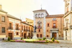 Plaza de Λα Villa στην παλαιά πόλη της Μαδρίτης Ισπανία Στοκ Εικόνες