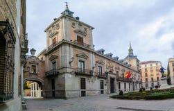 Plaza de Λα Villa, στη Μαδρίτη Στοκ Εικόνες
