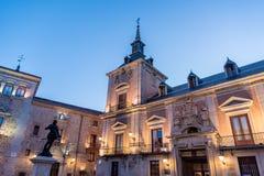 Plaza de Λα Villa στη Μαδρίτη, Ισπανία Στοκ εικόνες με δικαίωμα ελεύθερης χρήσης