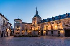 Plaza de Λα Villa στη Μαδρίτη, Ισπανία Στοκ Εικόνες