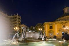 Plaza de Λα Virgen, Βαλένθια, Ισπανία Στοκ εικόνα με δικαίωμα ελεύθερης χρήσης