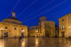 Plaza de Λα Virgen, Βαλένθια, Ισπανία Στοκ εικόνες με δικαίωμα ελεύθερης χρήσης