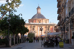 Plaza de Λα Virgene, Βαλένθια Στοκ Φωτογραφίες