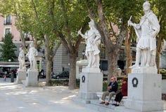 plaza de Μαδρίτη oriente Στοκ εικόνα με δικαίωμα ελεύθερης χρήσης
