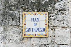 Plaza de Σαν Φρανσίσκο - Αβάνα, Κούβα Στοκ Εικόνες