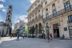 Plaza de Σαν Φρανσίσκο de Asisi, Λα Αβάνα, Κούβα Στοκ εικόνα με δικαίωμα ελεύθερης χρήσης