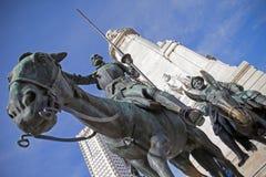 西万提斯纪念碑- Plaza de西班牙 免版税库存照片