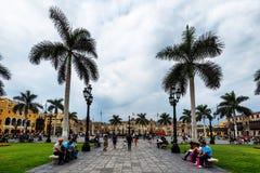 Plaza DE Aramas in Lima, Peru, Stock Afbeeldingen