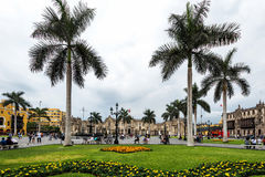 Plaza de Aramas in Lima, Peru, Royalty Free Stock Images