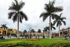 Plaza de Aramas in Lima, Peru, Royalty Free Stock Images