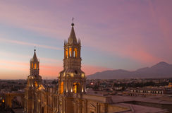 Plaza de Arequipa Imagen de archivo libre de regalías