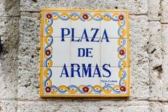 Plaza de Armas - Αβάνα, Κούβα Στοκ Εικόνες