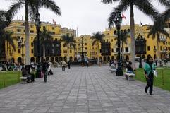 Plaza de Armas και πάρκο της σημαίας στη Λίμα, Περού Στοκ Εικόνες