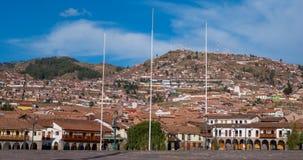 Plaza de Armas, κύριο τετράγωνο σε Cusco, Περού Στοκ Φωτογραφίες