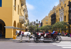 Plaza de Armas, Λίμα, Περού Στοκ Εικόνες