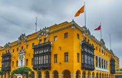 Plaza de Armas, Λίμα Στοκ εικόνα με δικαίωμα ελεύθερης χρήσης
