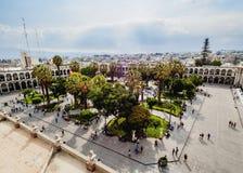 Plaza de Armas σε Arequipa, Περού Στοκ φωτογραφία με δικαίωμα ελεύθερης χρήσης