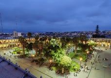 Plaza de Armas σε Arequipa, Περού Στοκ Εικόνα