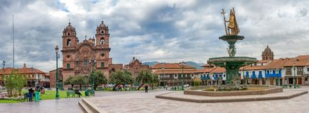 Plaza de Armas σε Cusco, Περού Στοκ Εικόνες