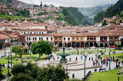 Plaza de Armas σε Cusco, Περού Στοκ Εικόνα
