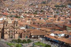Plaza de Armas σε Cusco Στοκ φωτογραφία με δικαίωμα ελεύθερης χρήσης