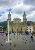 Plaza de Armas στο ιστορικό κέντρο στη Μπογκοτά Κολομβία Στοκ Εικόνες