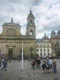 Plaza de Armas στο ιστορικό κέντρο στη Μπογκοτά Κολομβία Στοκ εικόνα με δικαίωμα ελεύθερης χρήσης