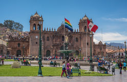 Plaza de Armas στο ιστορικό κέντρο Cusco, Περού Στοκ φωτογραφία με δικαίωμα ελεύθερης χρήσης