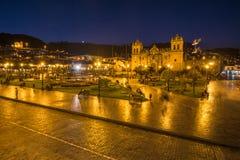Plaza de Armas στο ιστορικό κέντρο Cusco, Περού Στοκ Εικόνα