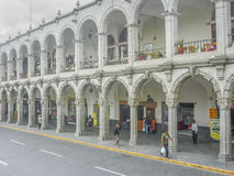Plaza de Armas της αρχιτεκτονικής Arequipa Στοκ εικόνα με δικαίωμα ελεύθερης χρήσης
