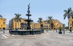 Plaza de Armas της Λίμα, Περού Στοκ φωτογραφία με δικαίωμα ελεύθερης χρήσης