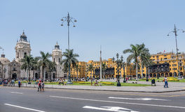 Plaza de Armas της Λίμα, Περού Στοκ Εικόνα