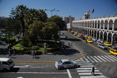 Plaza de Armas - Arequipa, Περού Στοκ Φωτογραφία