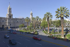 Plaza de Armas, Arequipa, Περού Στοκ εικόνα με δικαίωμα ελεύθερης χρήσης