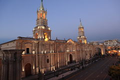 Plaza DE Armas in Arequipa Royalty-vrije Stock Foto's